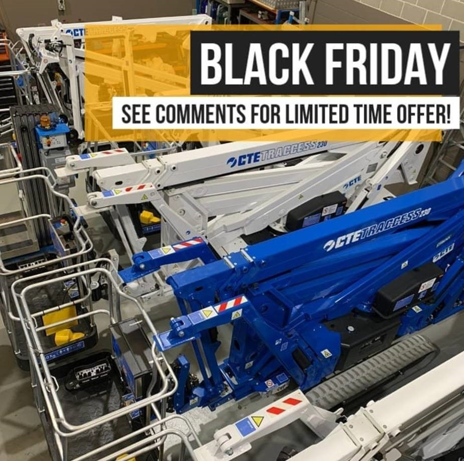 Black friday save on any CTE Traccess spider lift
