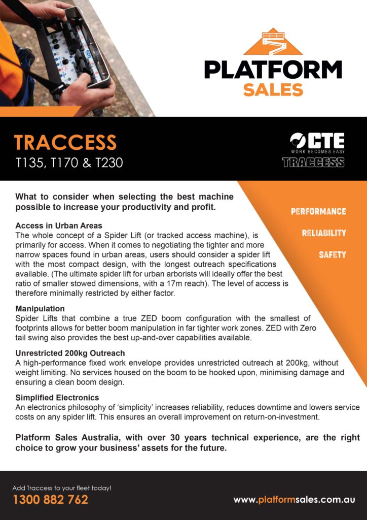 Traccess flyer